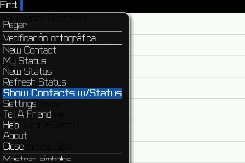 Esta opción te muestra el estado de los contactos que tienes en tu agenda y que tienen WhatsApp también